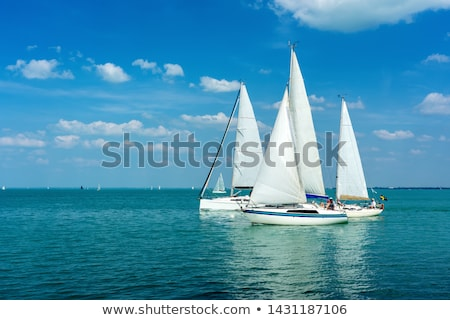 Sailing boats on Lake Balaton Stock photo © joruba