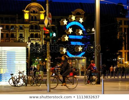 евро знак Франкфурт европейский центральный банка Сток-фото © meinzahn