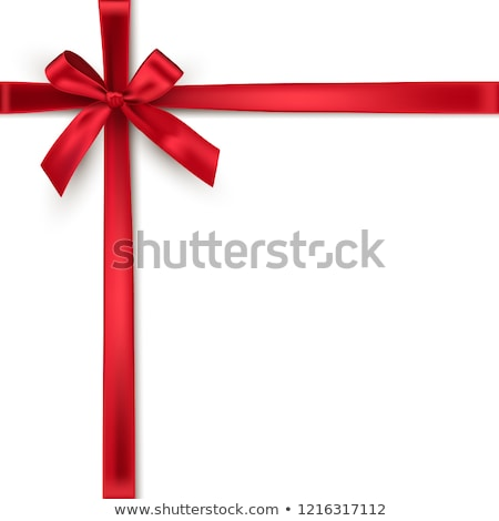 Ribbons crossed with red bow isolated on a white background stock photo © impresja26