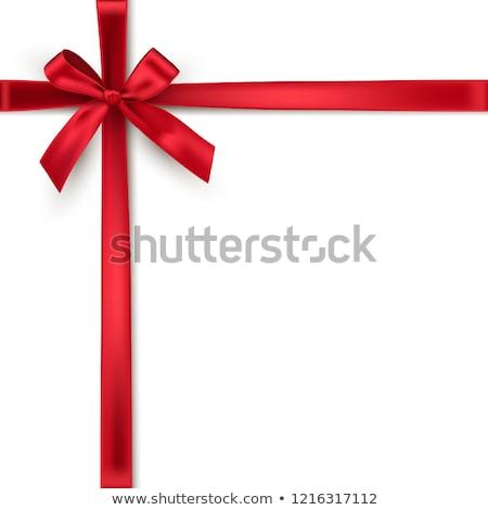 vermelho · arco · isolado · branco · papel - foto stock © impresja26