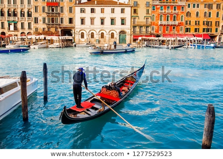 gondolas in sunset stock photo © hofmeester