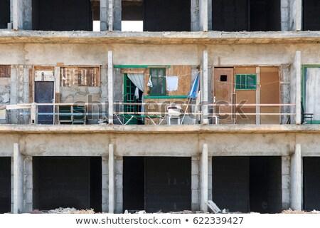 Rohadt kagyló épület építkezés engedély hotel Stock fotó © meinzahn