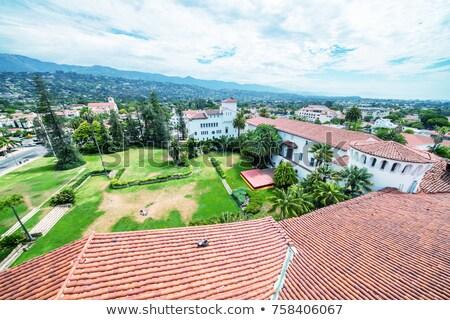 Rechter huis oranje daken gebouwen missie Stockfoto © billperry