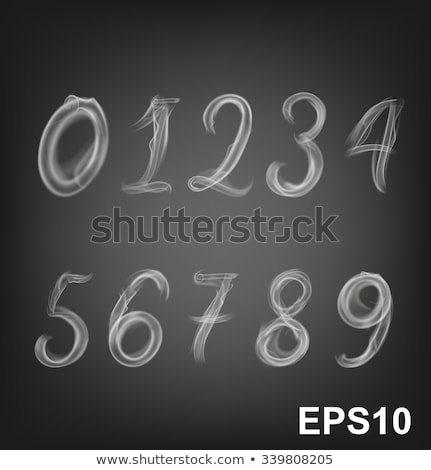 Letters, numbers and smoke Stock photo © cherezoff