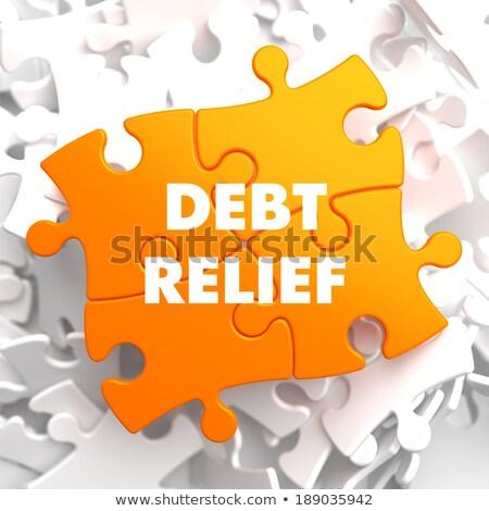 Сток-фото: долг · рельеф · оранжевый · головоломки · белый · бизнеса