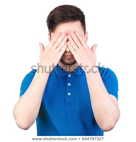 man closing his eyes mouth and ears stock photo © stevanovicigor