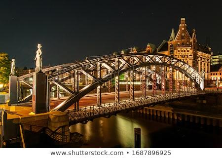 橋 ハンブルク オフィス 建物 市 青 ストックフォト © meinzahn