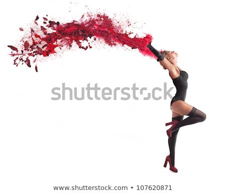 Burleszk előadás illusztráció lány divat háttér Stock fotó © adrenalina