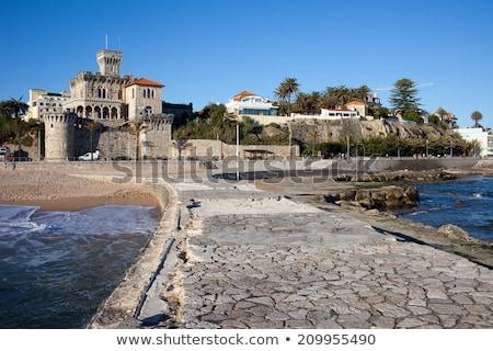 Pier and Coastline of Estoril in Portugal Stock photo © rognar