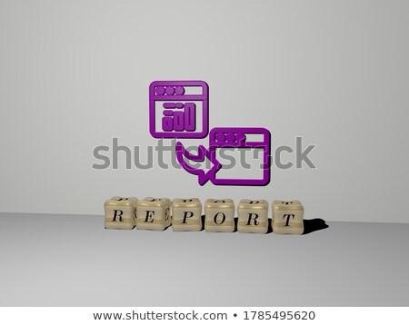 финансовых Новости золото 3D слов темно Сток-фото © tashatuvango