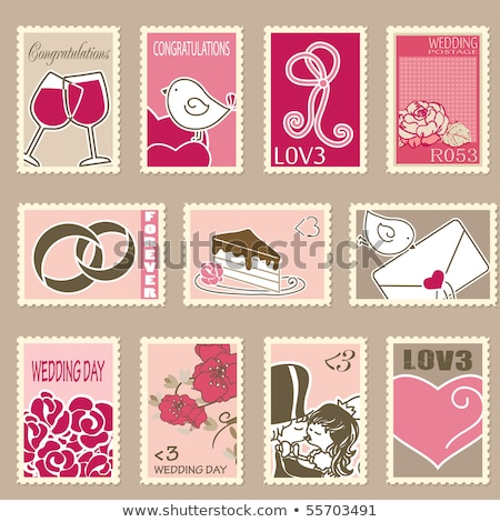 """Stamp Stamping Red """"kiss"""" Stock photo © almir1968"""