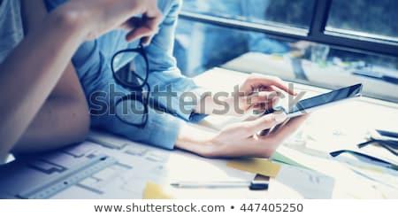 Vállalati hírek digitális arany szín szöveg Stock fotó © tashatuvango