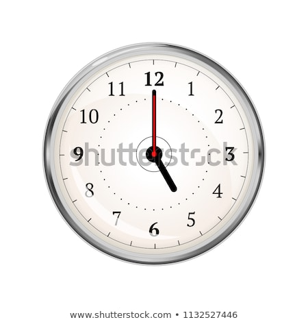 Stock photo: White clock with black hands showing five o'clock