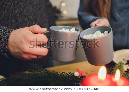Chocolate caliente beber delicioso taza Foto stock © raphotos
