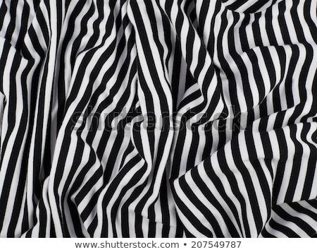 White fabric with black stripes Stock photo © Zerbor