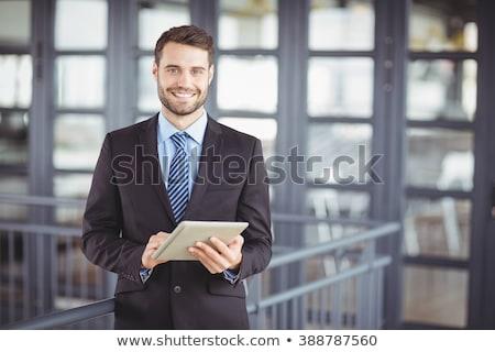 ハンサム · 小さな · ビジネスマン · あごひげ · 立って - ストックフォト © feedough