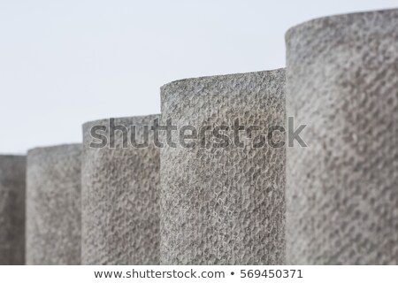 old gray roof slates close up stock photo © latent