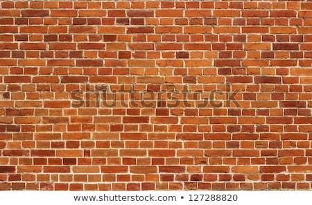 Crack of bricks in orange wall Stock photo © eddygaleotti