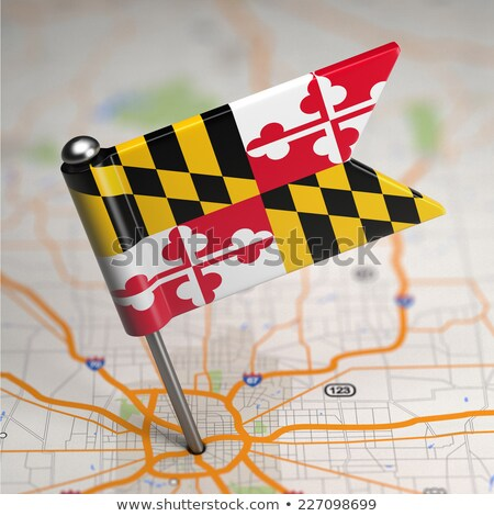 Maryland Small Flag on a Map Background. Stock photo © tashatuvango