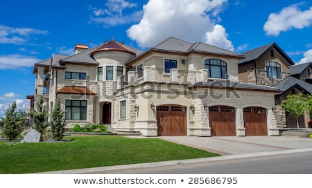 Custom Built Home Facade Stock photo © feverpitch