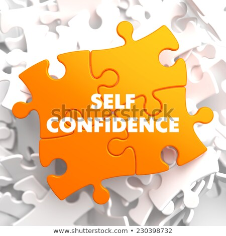 Self Confidence on Yellow Puzzle. Stock photo © tashatuvango