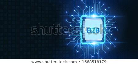 Zdjęcia stock: B2b · działalności · palec · ekran · dotykowy · Internetu · biznesmen