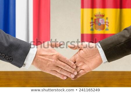 França Espanha apertar a mão negócio mãos sucesso Foto stock © Zerbor