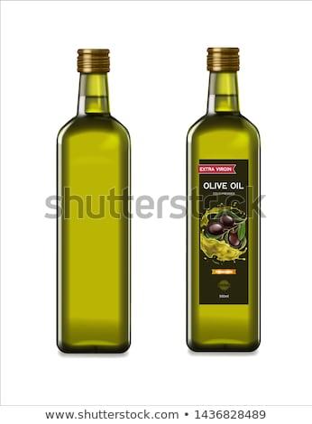 オリーブオイル ボトル 白 食品 光 油 ストックフォト © jeancliclac
