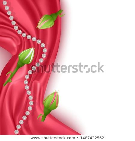vector · collectie · kleur · parels · geïsoleerd · witte - stockfoto © beholdereye
