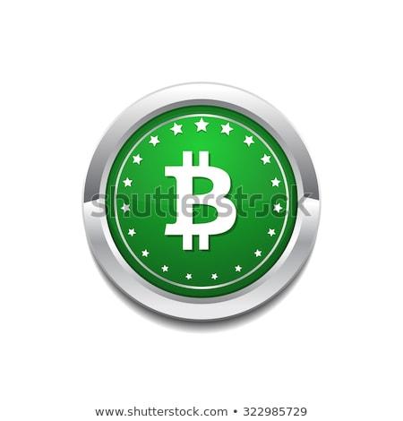 Bit moneda icono botón negocios dinero Foto stock © rizwanali3d