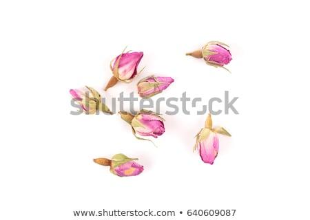 Kurutulmuş gül çiçek kırmızı gül Metal kaşık Stok fotoğraf © zia_shusha