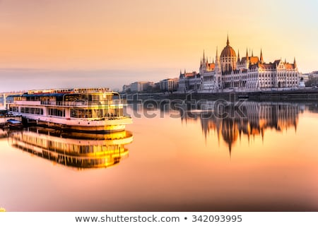 blue boat on danube river Stock photo © mady70