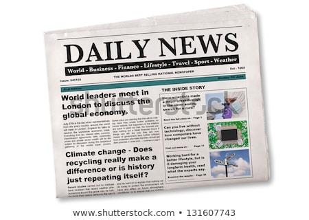 Krant opschrift wetenschap technologie kantoor nieuws Stockfoto © Zerbor