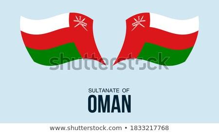 Térkép zászló gomb Omán vektor kép Stock fotó © Istanbul2009