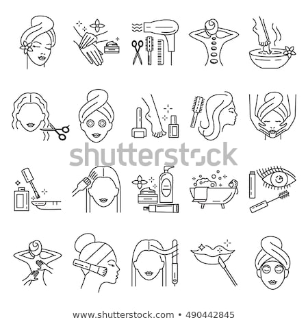 Spa Colored Line Icons Stock photo © AnatolyM