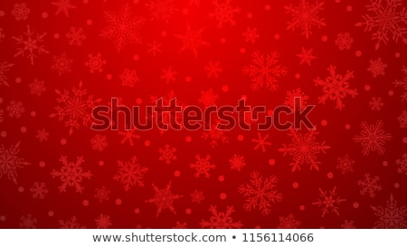 Beyaz kar taneleri kırmızı arka plan sanat buz Stok fotoğraf © lucielang