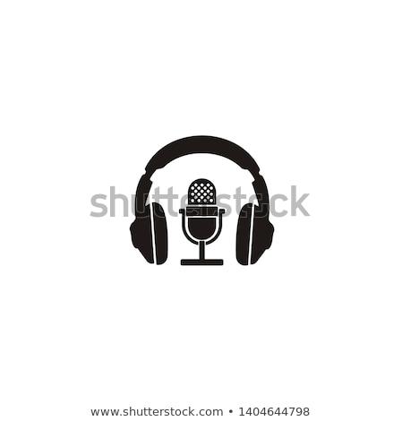 Kulaklık ayakta konuşmacı yalıtılmış beyaz müzik Stok fotoğraf © hsfelix