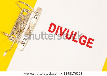 Declarations Concept with Word on Folder. Stock photo © tashatuvango