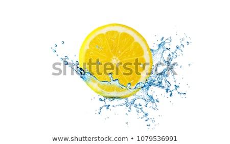 lemon with water drops stock photo © acidgrey