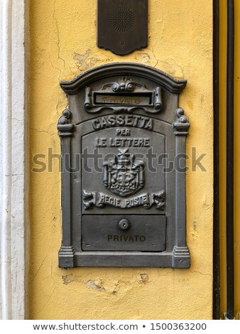 country letterbox on the wall in italy stock photo © master1305