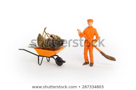 Stock fotó: Halott · darázs · miniatűr · talicska · méh · takarítás