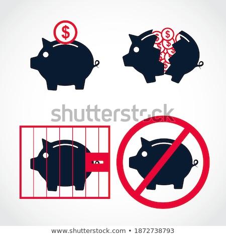 Photo stock: Financial Banking Pink Vector Button Icon Design Set