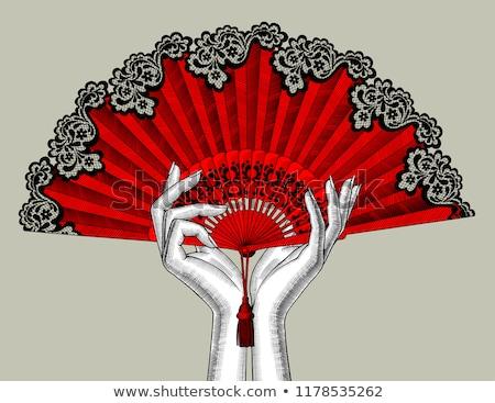 Stock fotó: Spanyolország · flamenco · nő · izolált · virág · lány