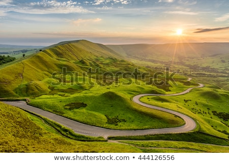 田舎道 砂利道 夏 風景 ストックフォト © olandsfokus