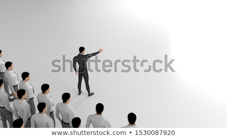 3d man pointant direction blanche angle Photo stock © nithin_abraham