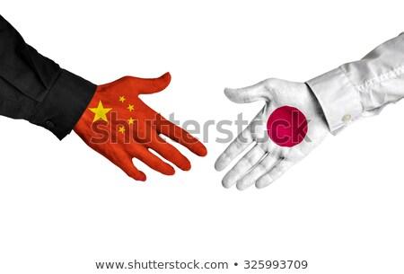 Chiny Japonia Shake Hands ręce strony spotkanie Zdjęcia stock © Zerbor