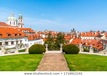 Panoramic overview of Prague Stock photo © AndreyKr