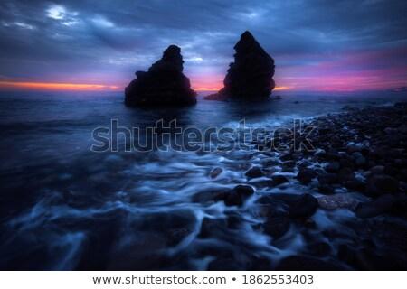 Dramatique matin sunrise nuages brillant orange Photo stock © skylight