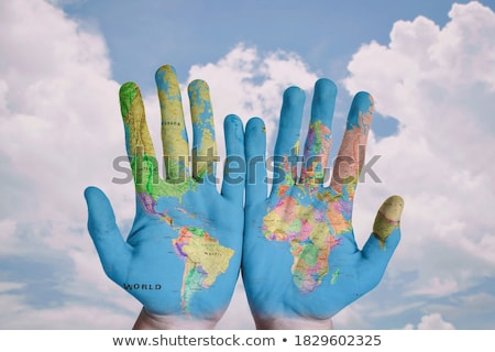 Welt in der Hand Stock photo © Hasenonkel