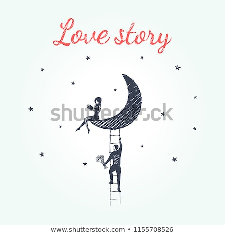 Hand drawn Love Story illustration stock photo © netkov1